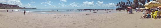 Vista panorâmica da Praia de Coqueirinho
