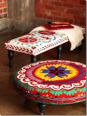 Otomanos, os banquinhos para apoiar os pés