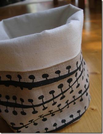 Porta-panetone em tecido