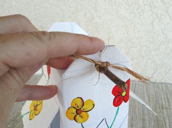 Em cada ponta amarre uma corda