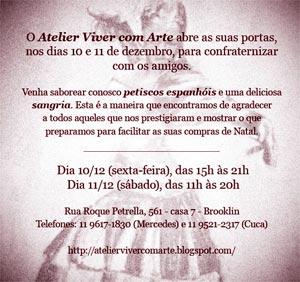 Bazar do Atelier Viver com Arte