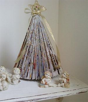 A Mari Lima fez uma árvore de origami decorada