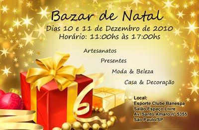 Bazar de Natal Rita Brasil