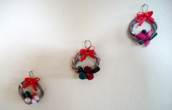 Mini guirlandas feitas pela amiga Cristiane Minelli