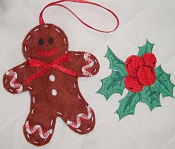 Enfeites de natal biscoito Gingerbread de feltro da Edina Cunha