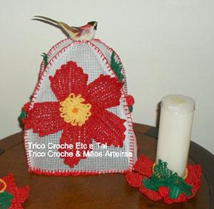 Porta-panetone de crochê da Maria Rita Souza