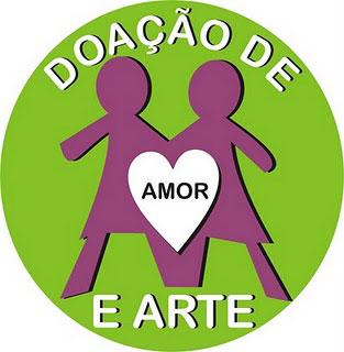 Selo da campanha Doação de Amor e Arte