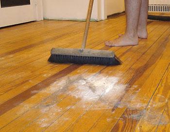 Lixar e limpar bem o piso