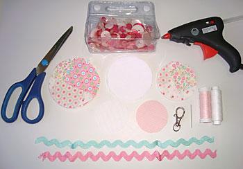 Material para fazer um chaveiro