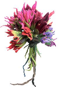 Curso de bouquet de flores feltrado do Atelier Prince