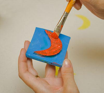 Usando o carimbo em projetos de artesanato