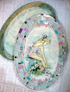 Aprenda a fazer mosaico com vidros