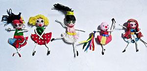 Bonecas de tecido chamadas Betildas