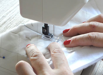 Costure o quilt