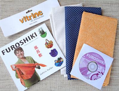 Kit com DVD aula da técnica do Furoshiki
