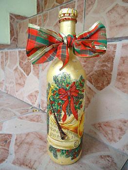 Reciclagem de garrafa para decorar o natal