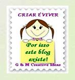 Selo gmcreativeideas blog da Edileusa
