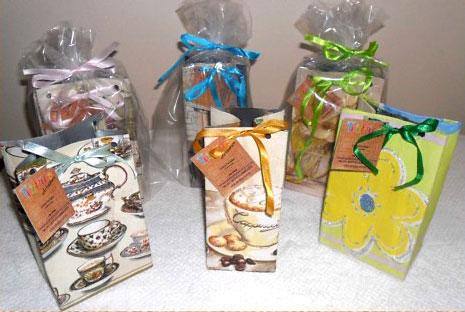 Embalagens para presente criadas a partir da reciclagem