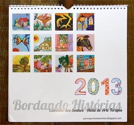 Calendário 2013 Bordando Histórias
