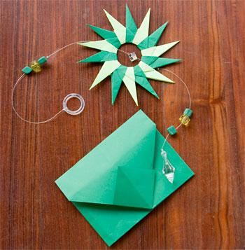 Envelope de origami para as lembrancinhas de festa