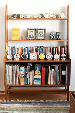 Armário vintage para uma coleção de época