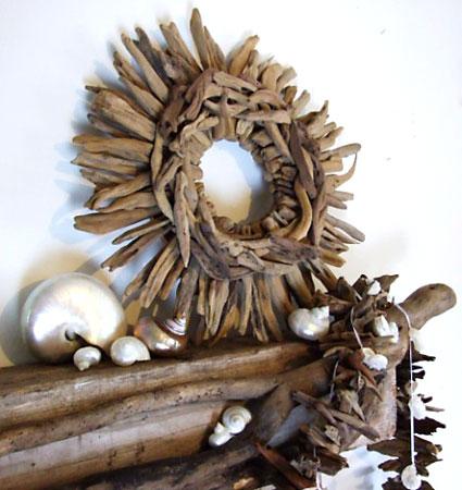 Moldura de gravetos para usar na decoração