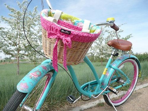 Forro de tecido estampado, um artesanato especial para a bicicleta