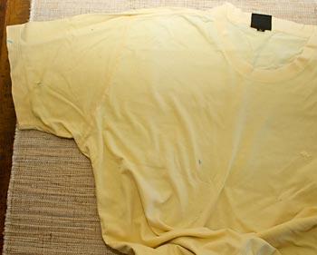 Escolha uma camiseta velha para fazer seus trapilhos