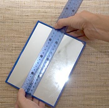 Meça as laterais para definir o tamanho de seu molde
