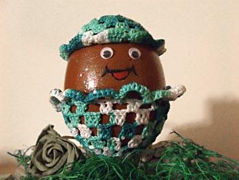Roupinha pra ovo de páscoa