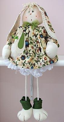 Boneco de tecido, um coelho pra decorar a casa na páscoa