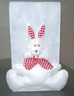Saco de presente com coelho