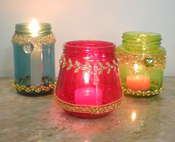 Lanternas decoradas para enfeitar a mesa