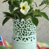 Transforme a garrafa pet em vaso de flores