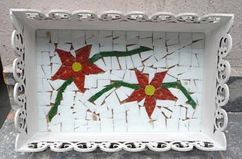 Espere o mosaico secar por 24 horas