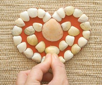 Finalize a composição de conchas