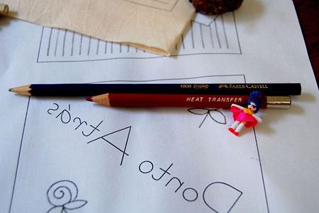 Usando o lápis transferidor e o lápis cópia