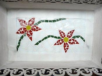 Proteja o mosaico para fazer a pintura