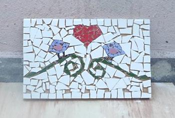 Espere o mosaico secar totalmente
