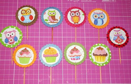 Vejam os cupcake toppers quase prontos