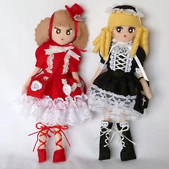 Lolidolls bonecas kawaii em feltro