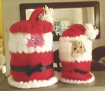 Crochê para tecer o Papai Noel