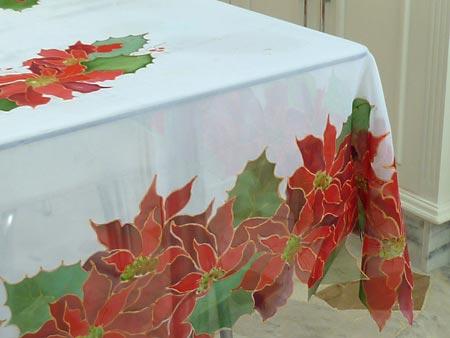 Toalha de mesa pintada à mão para a mesa de festa