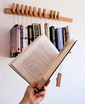 Como usar o rack de livros