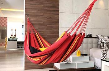 Rede dentro de casa para relaxar
