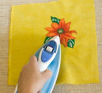 Posicione a estampa no tecido liso