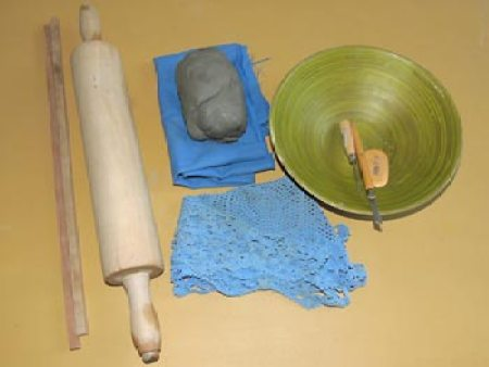 Material para a cerâmica rendada