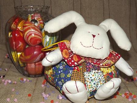 Bolsa de coelho, pra guardar os chocolates