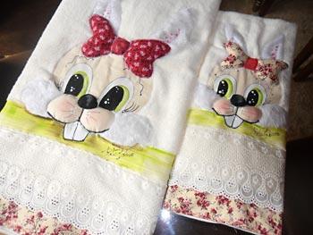 Jogo de toalhas para a páscoa