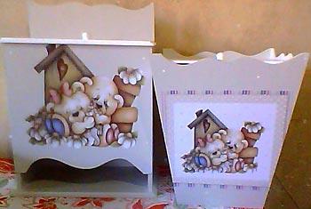 Kit decorado com decupagem